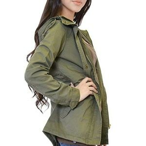 Jackets & Blazers - NWT Utility Military Olive Jacket Size Medium